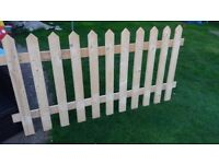 Picket fence solid fence
