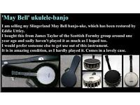 Restored Slingerland Maybell Banjo Ukulele