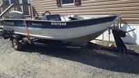 16' fishing boat with 60 hp evinrude