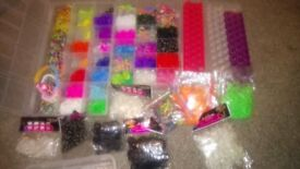 Large collection of loom bands and accessories