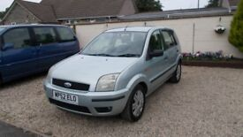 Ford Fusion 3 16valve 1.6cc 5 Door Hatch Back with New MOT