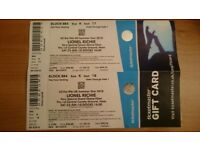 Lionel Richie tickets x2 at Hove County Ground - Saturday 23rd June 2018 @ 16:00