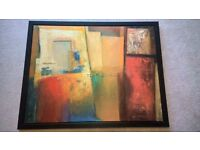 Large abstract print from IKEA