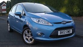 2012 Ford Fiesta Zetec 1.4 Diesel, 3 MONTHS WARRANTY available, £20 to tax per year £3350 BARGAIN!!!