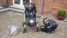 Bebe comfort loola 3&1 (car seat, infant pram, stroller & footmuff)