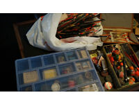 Old fishing floats,hooks,shot,wieghts for coarse fishing...