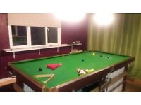 3/4 size slate snooker table