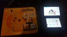 Nintendo 3ds XL (Red with Pokemon Y & 4GB)