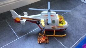 Rescue Helicopter Toy with working winch