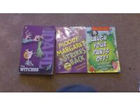 Roald Dahl The Witches, Moody Margret strikes back, Laugh your pants off Books Bundle