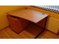 Office/Computer Desk & 3 Drawer Pesestal