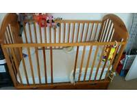 Cot bed + extras