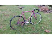 Peugeot Course Road Bike retro vintage steel upgraded racer 54cm/21'' fixie fixed old racing bike