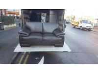 2 seater sofa in brown leather, very good condition £125 delivered