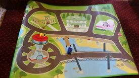 Never played with Paw patrol play mat plus small Chase figure