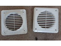Extractor fan Vent / Grille 100mm diameter pipe