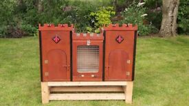 Guinea pig, small rabbit, castle themed hutch