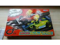 Micro scalextric set simpsons edition