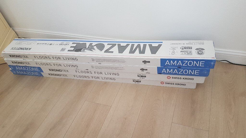 5 Boxes Of Quality Laminate Flooring For Sale Oak Grey Prestige