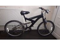 Black Dual Suspension Mountain Bike