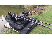 Full Preston match fishing set up and daiwa airity pole
