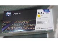 Ink cartridges for HP LaserJet printers in Yellow and Magenta Originals.