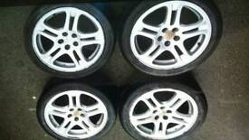 Subaru wrx full set of wheels