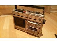 Vintage Retro 80's Boombox SANYO M - Z30L Radio / Cassette Tape Player.