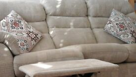 3 seater settee with recliner seat and chair, G-plan