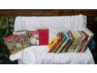 Football /Soccer Books, Annuals, and Magazines from 70's,80'sand 90's.