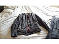 Womens biker jacket and trousers size 14/16