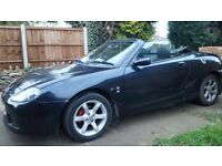 MG TF 135 Roadster. Black 2003. A lovely example. Low mileage 67k. Stainless steel exhaust.