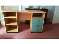 Desk and matching cupboard unit