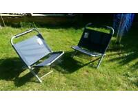 Low camping/festival chairs