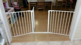 Hearth style extendable gate