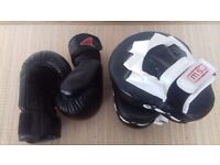 Master St. James Focus Mitts and KMA Sparring Gloves