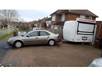 FOOD CATERING BURGER VAN TRAILER AND FORD MONDEO FOR TOWING
