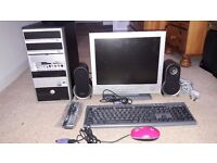 MEDION TOWER PC +SCREEN + K'BOARD + MOUSE + PC SPEAKERS + SOFTWARE ETC