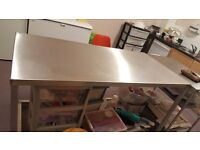 Steel catering table