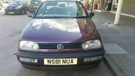 VW GOLF CABRIOLET CONVERTIBLE