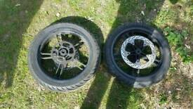 Yamaha yzf125r tyres & wheels & brake disks