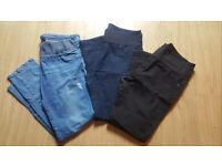 3x maternity under the bump jeans, size 14