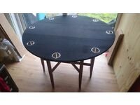 Custom folding poker table
