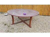 Garden table with 4 Director Chairs