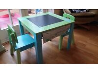 Childrens Kids Wooden Table & Chairs (Early Learning Centre)