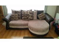 Exelent condition Dfs 4 seater sofer with arm chair and foot stall which also has storage