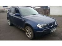 bmw x3 turbo diesel se 2005 05 plate 94kmiles metallic blue in colour alloys