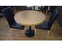11 table tops , 32 dining chairs , all good condition,