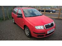 Skoda Fabia 1.2 Classic Estate 2006 - 06reg in Bright Red