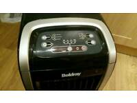 Oscillating plug in heater / air cooler
